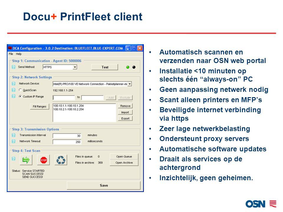 Docu+ PrintFleet client