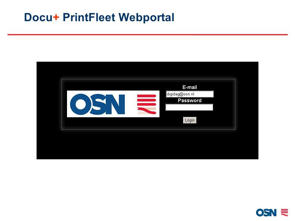 Docu+ PrintFleet Webportal