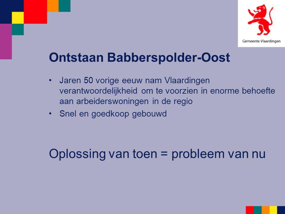 Ontstaan Babberspolder-Oost