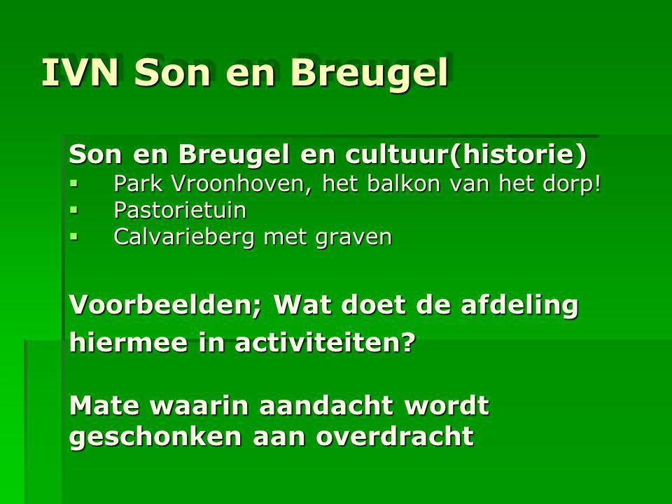 IVN Son en Breugel Son en Breugel en cultuur(historie)