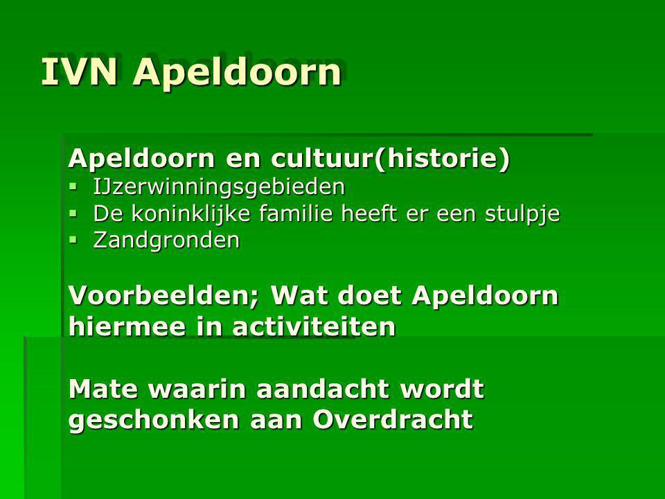 IVN Apeldoorn Apeldoorn en cultuur(historie)