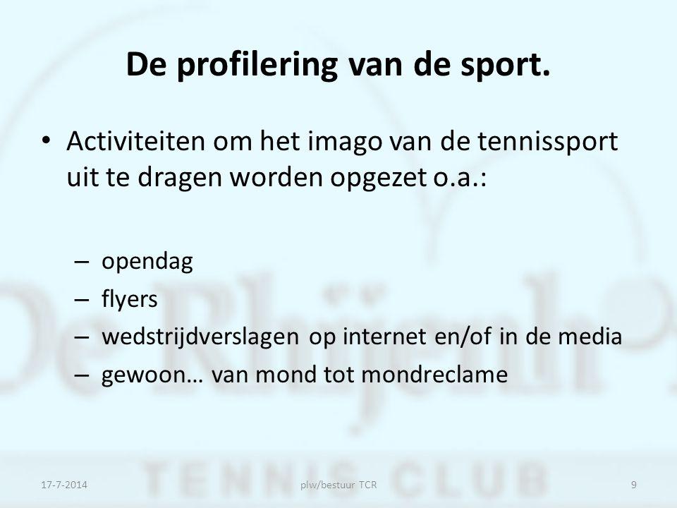 De profilering van de sport.