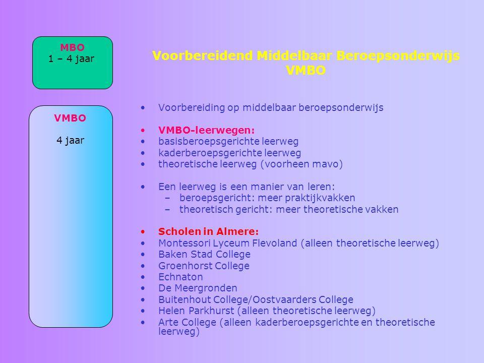 Voorbereidend Middelbaar Beroepsonderwijs VMBO