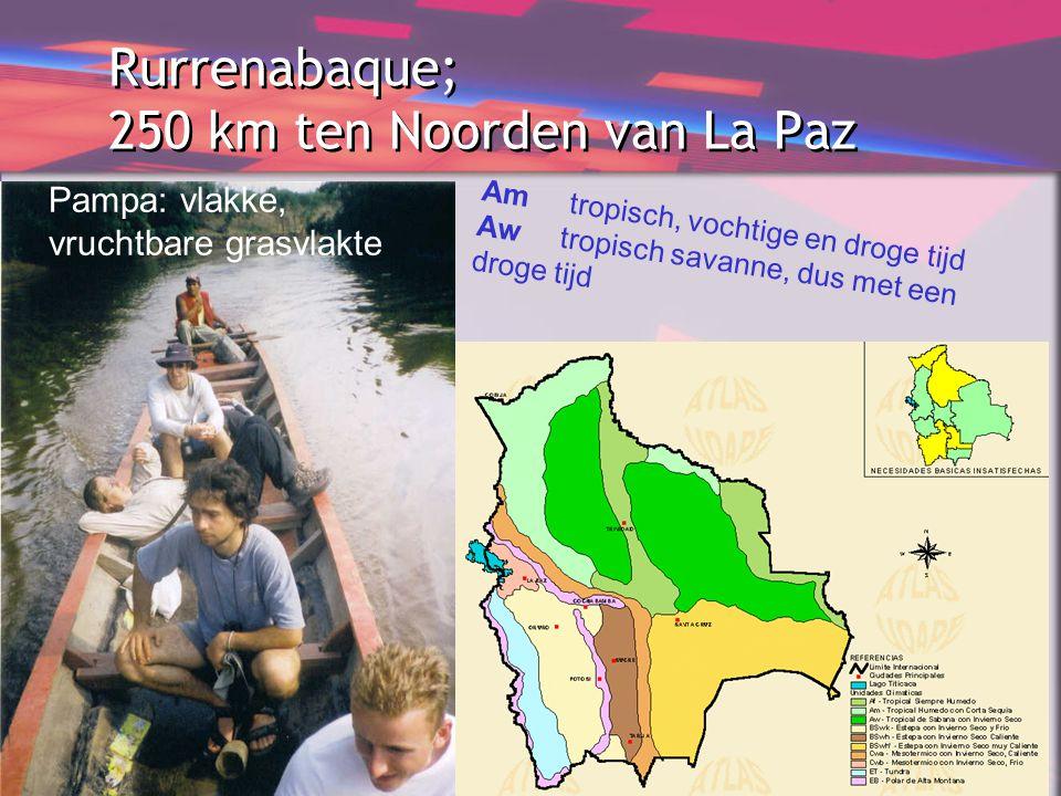 Rurrenabaque; 250 km ten Noorden van La Paz