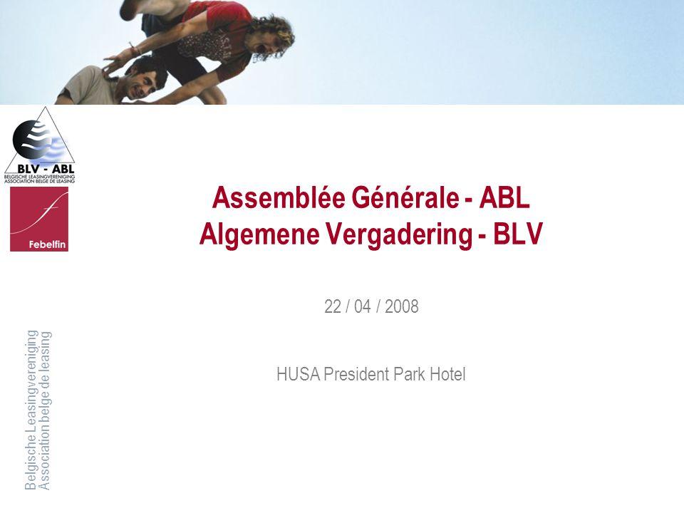 Assemblée Générale - ABL Algemene Vergadering - BLV