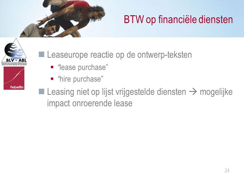 BTW op financiële diensten