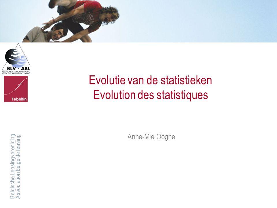 Evolutie van de statistieken Evolution des statistiques