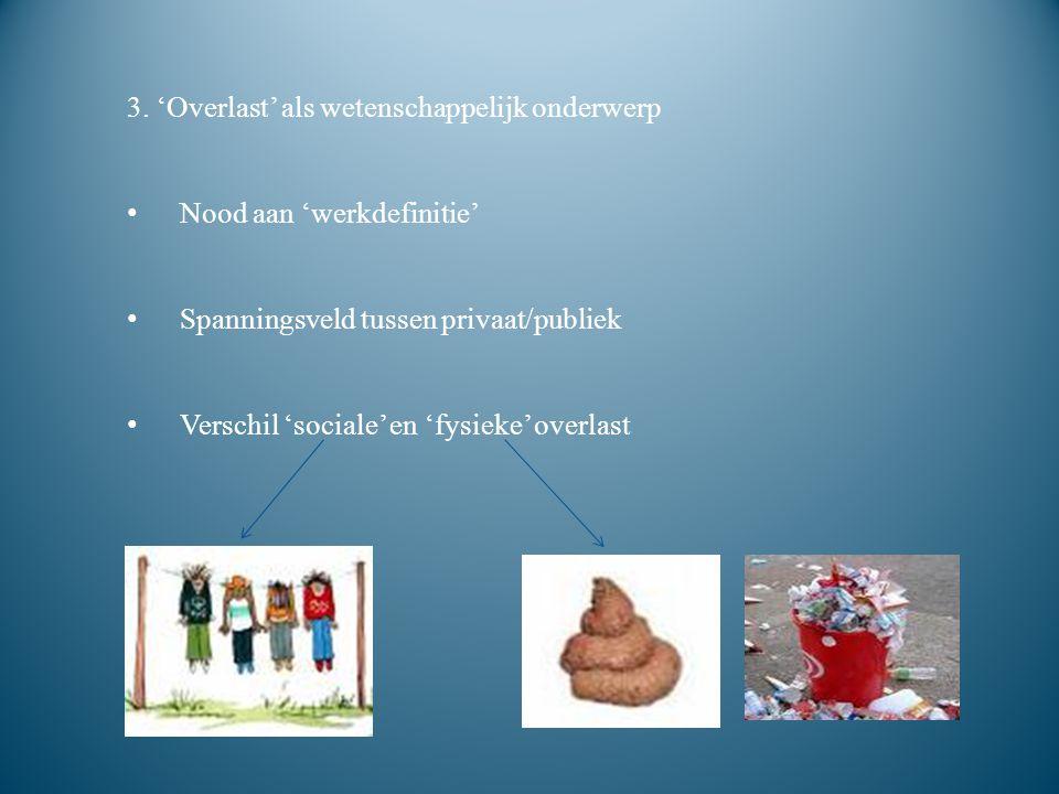 3. 'Overlast' als wetenschappelijk onderwerp