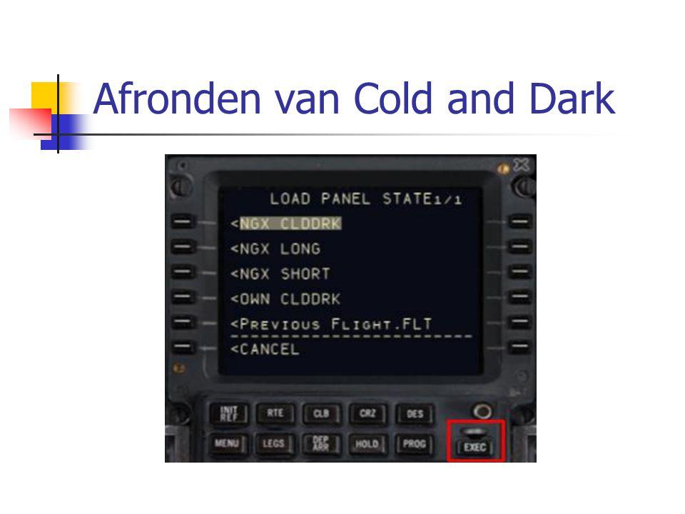 Afronden van Cold and Dark