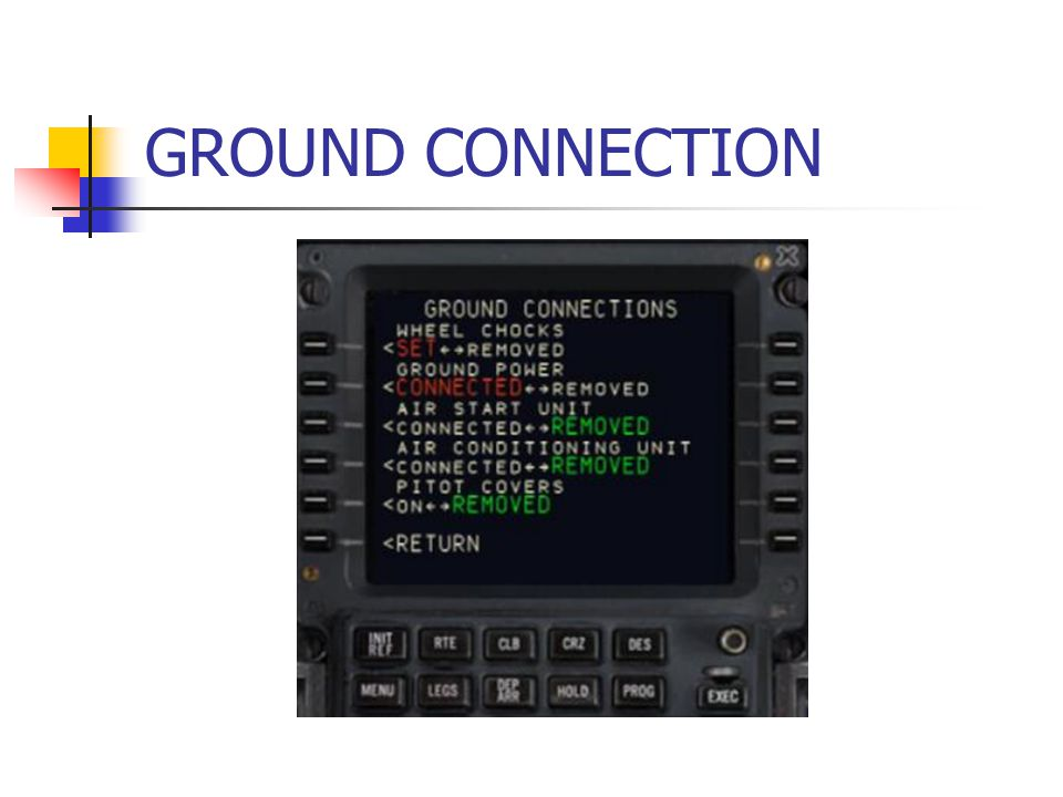 GROUND CONNECTION