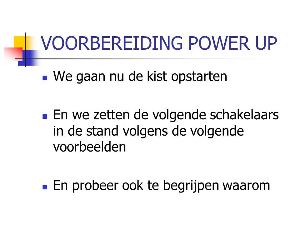 VOORBEREIDING POWER UP