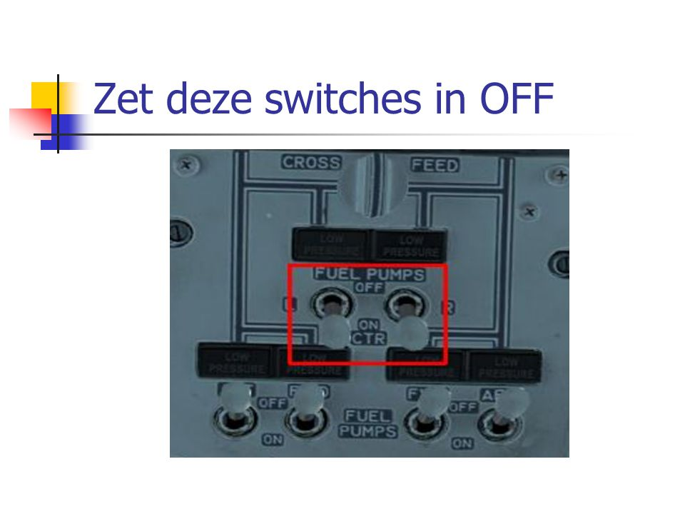 Zet deze switches in OFF