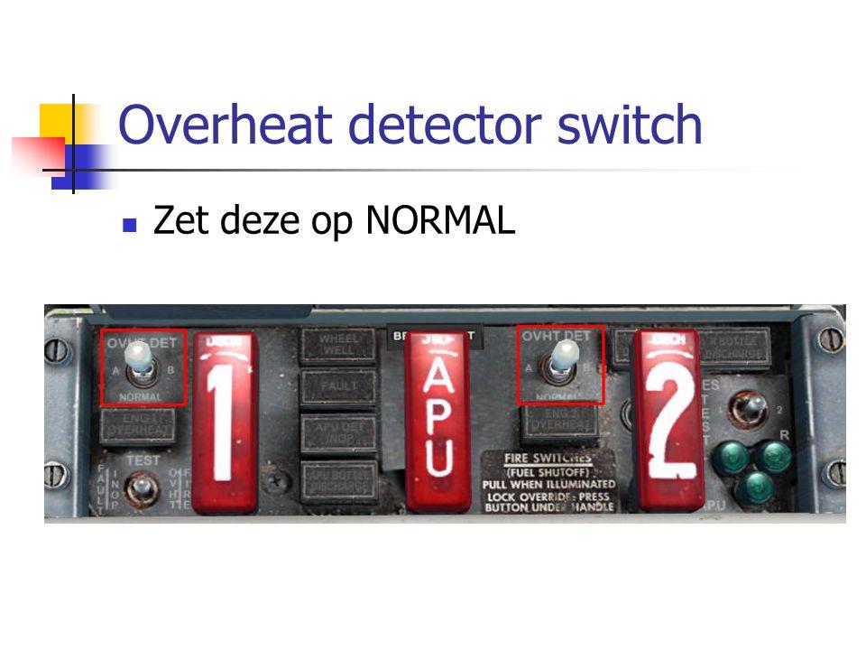 Overheat detector switch