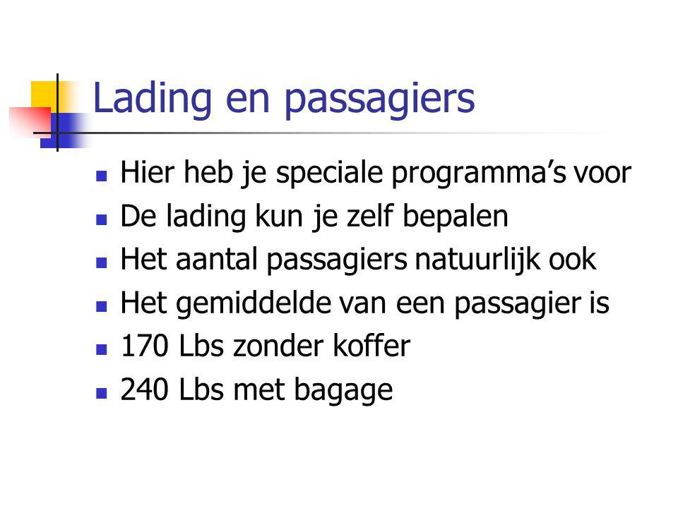 Lading en passagiers Hier heb je speciale programma's voor