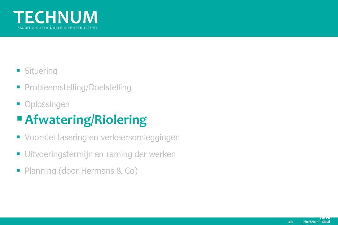 Afwatering/Riolering