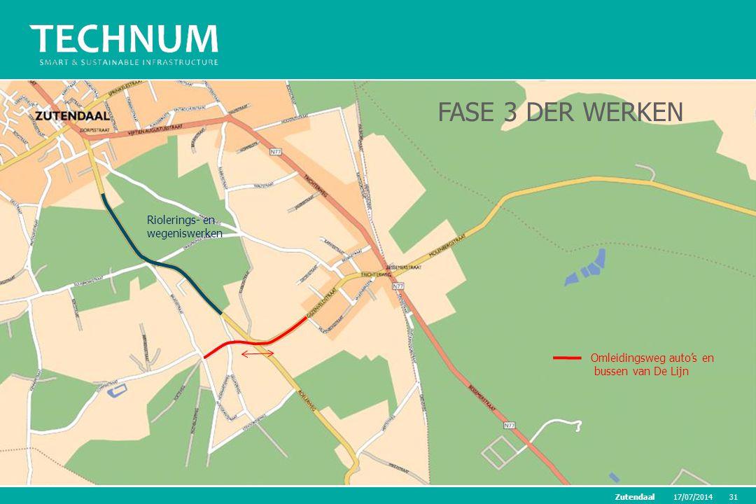 FASE 3 DER WERKEN Riolerings- en wegeniswerken Omleidingsweg auto's en