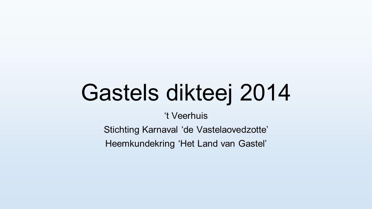 Gastels dikteej 2014 't Veerhuis
