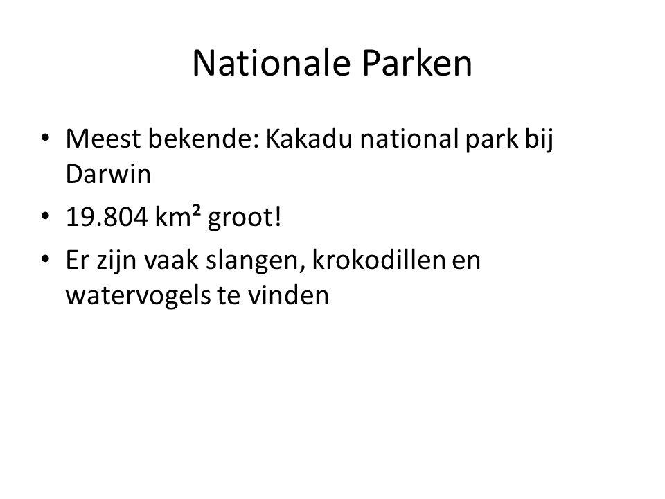 Nationale Parken Meest bekende: Kakadu national park bij Darwin