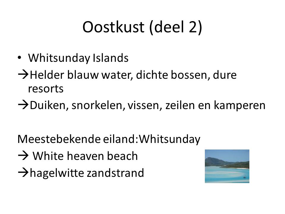 Oostkust (deel 2) Whitsunday Islands