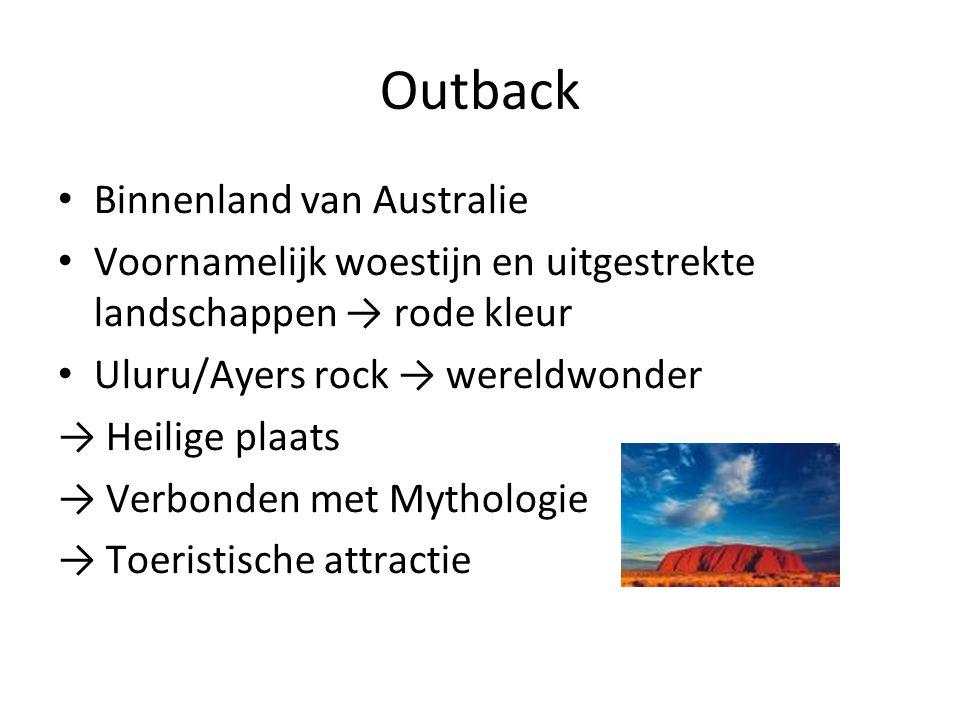 Outback Binnenland van Australie