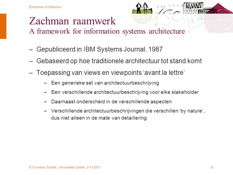 Zachman raamwerk A framework for information systems architecture