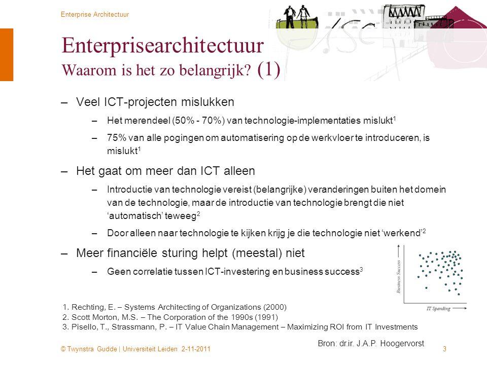 Enterprisearchitectuur Waarom is het zo belangrijk (1)