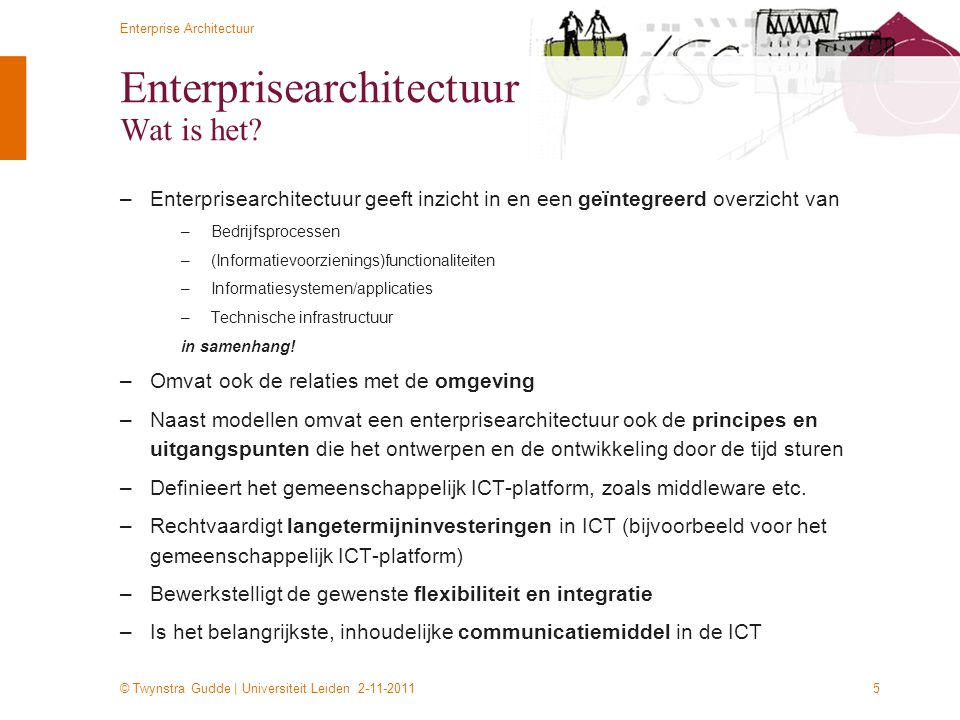 Enterprisearchitectuur Wat is het