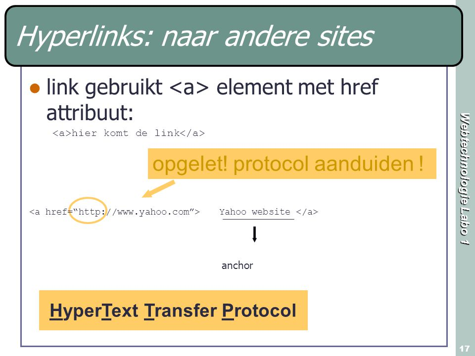 Hyperlinks: naar andere sites