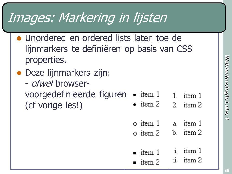 Images: Markering in lijsten