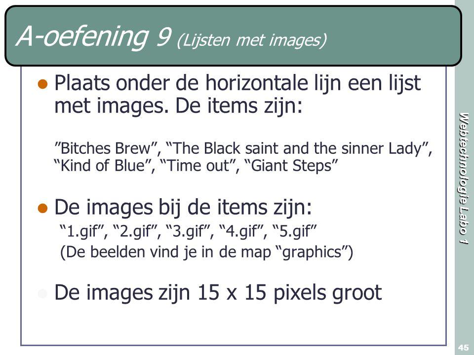 A-oefening 9 (Lijsten met images)