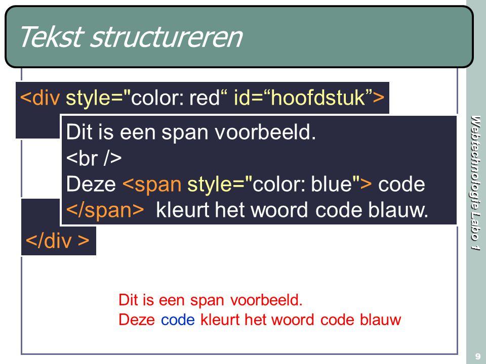 Tekst structureren <div style= color: red id= hoofdstuk >