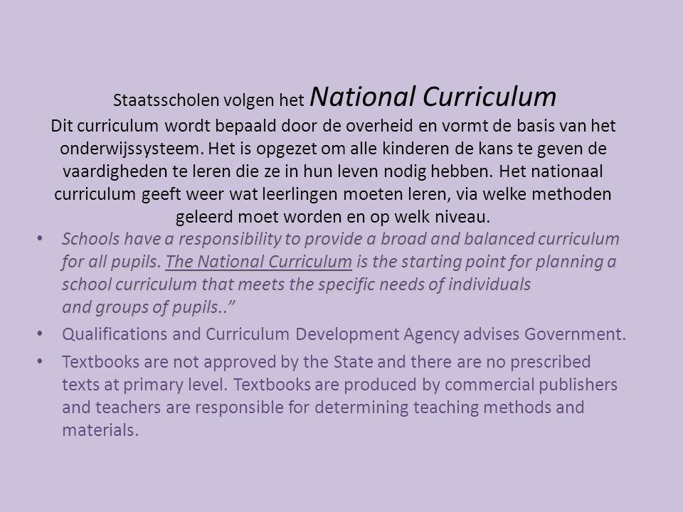 Qualifications and Curriculum Development Agency advises Government.