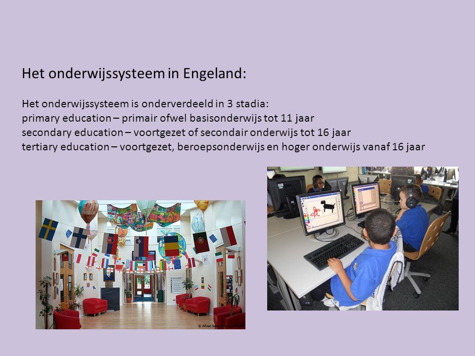 Het onderwijssysteem in Engeland: