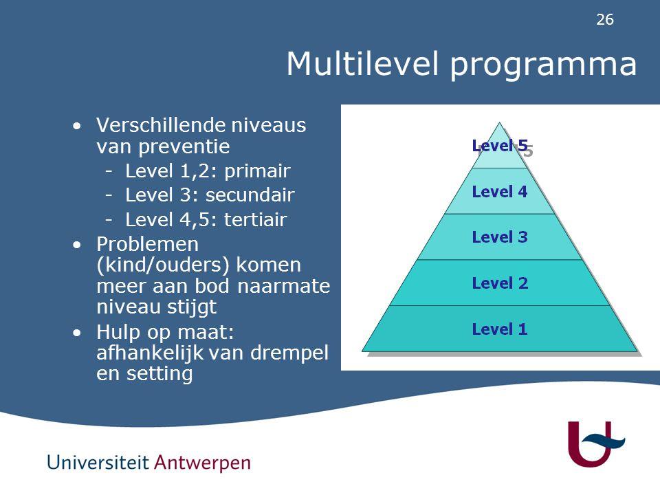 Triple P: Level 1 Level 1: Info over hoe ontwikkelingsproblemen en kleine gedragsproblemen kunnen opgelost worden: voor alle ouders.