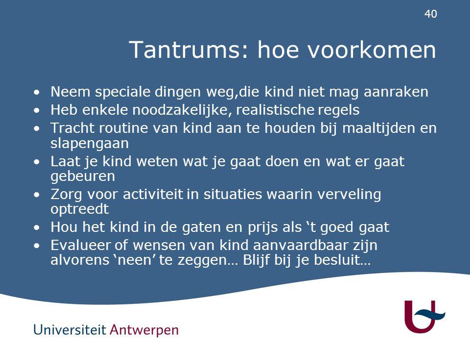 Hoe handelen bij tantrum (1)