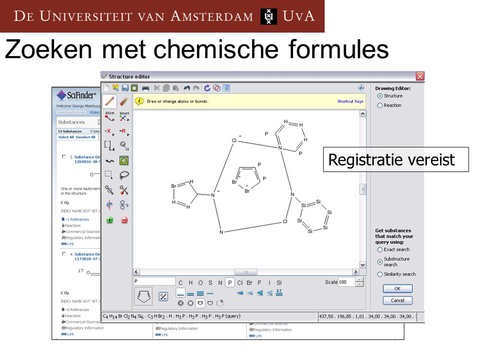 Zoeken met chemische formules