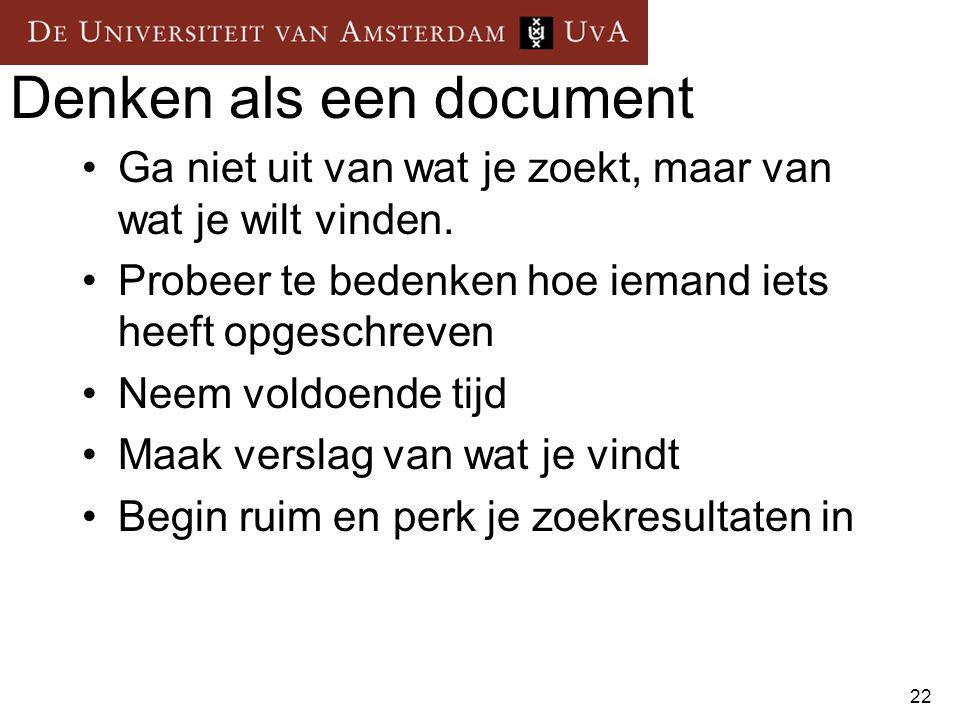 Denken als een document