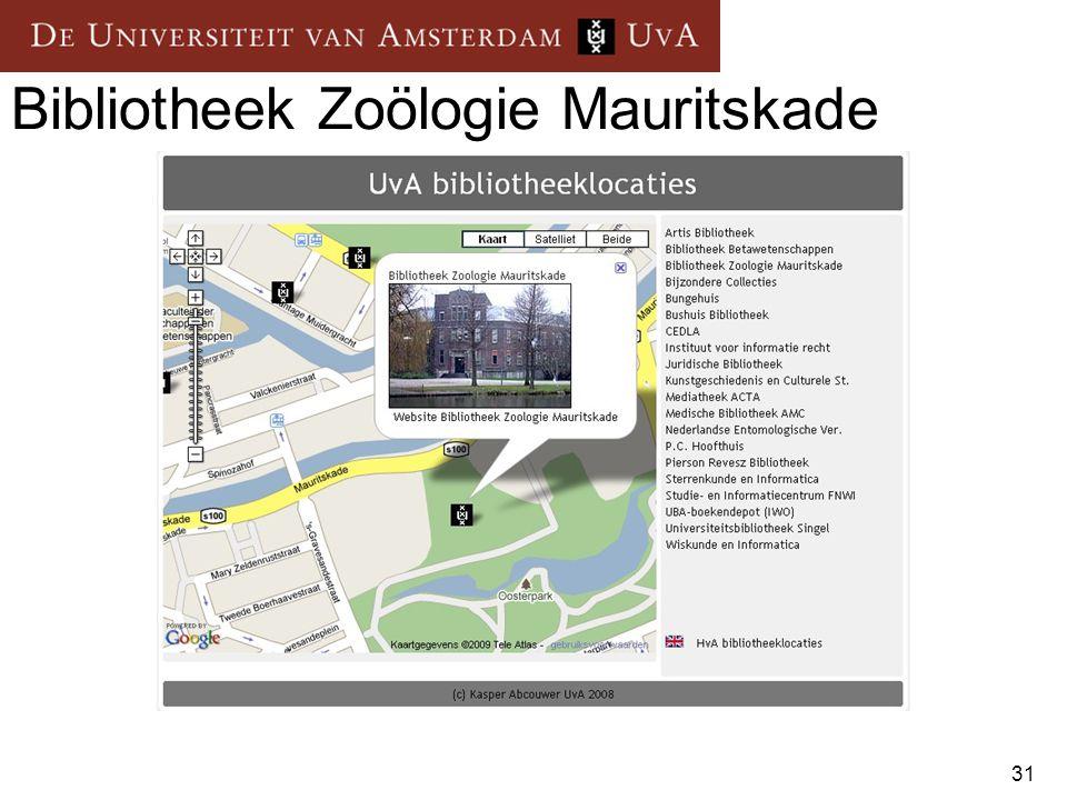 Bibliotheek Zoölogie Mauritskade