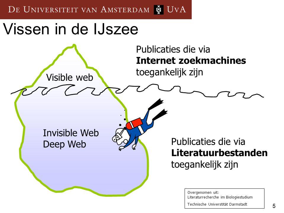 Vissen in de IJszee Publicaties die via Internet zoekmachines