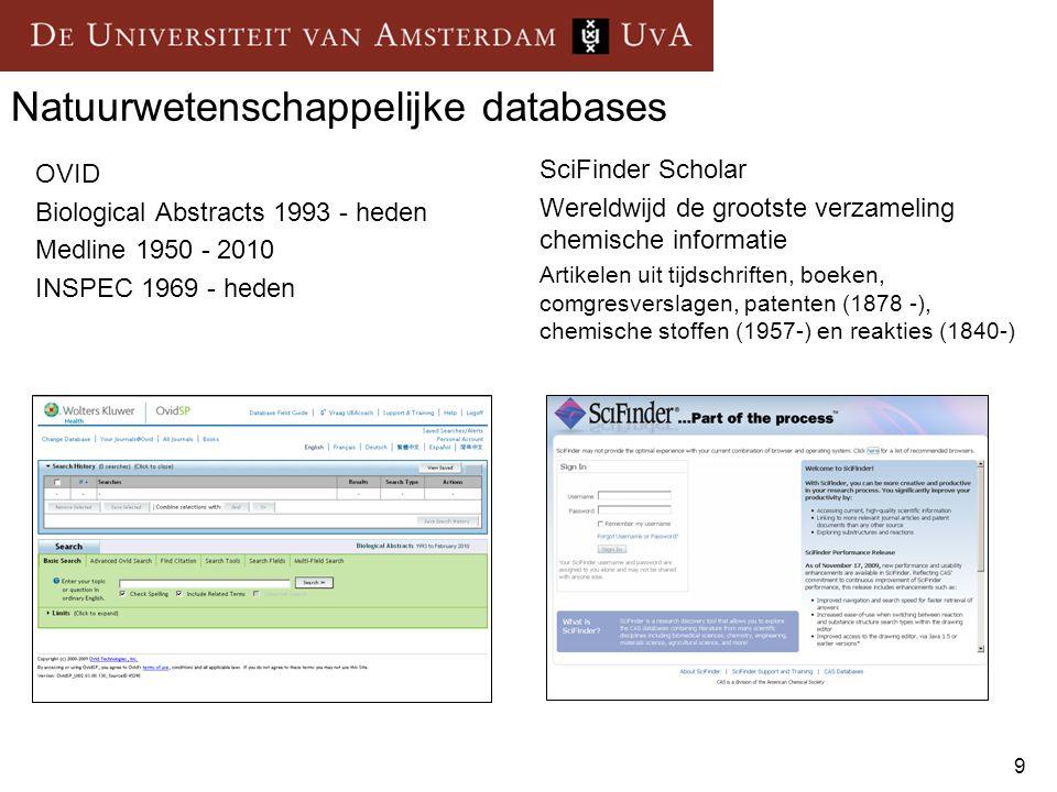 Natuurwetenschappelijke databases