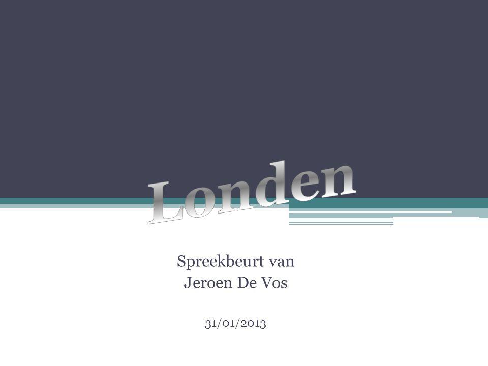 Spreekbeurt van Jeroen De Vos 31/01/2013