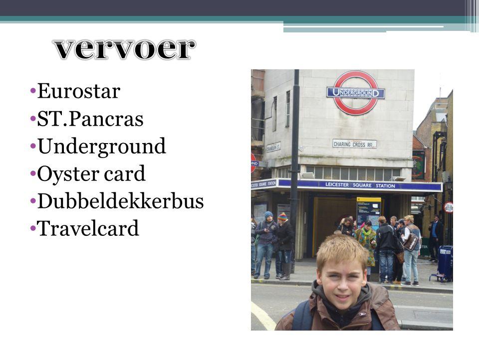 vervoer Eurostar ST.Pancras Underground Oyster card Dubbeldekkerbus