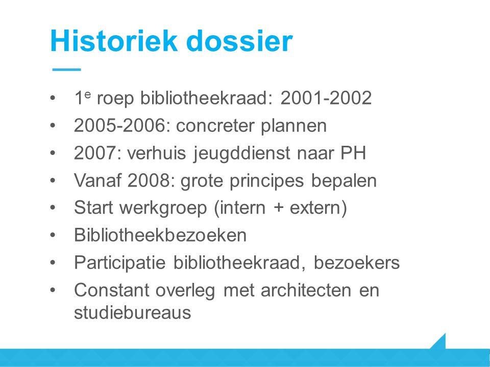 Historiek dossier 1e roep bibliotheekraad: 2001-2002