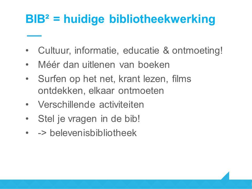 BIB² = huidige bibliotheekwerking
