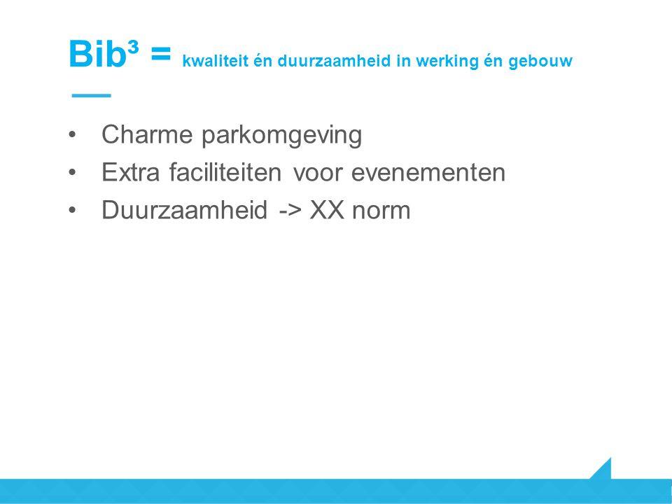 Bib³ = kwaliteit én duurzaamheid in werking én gebouw