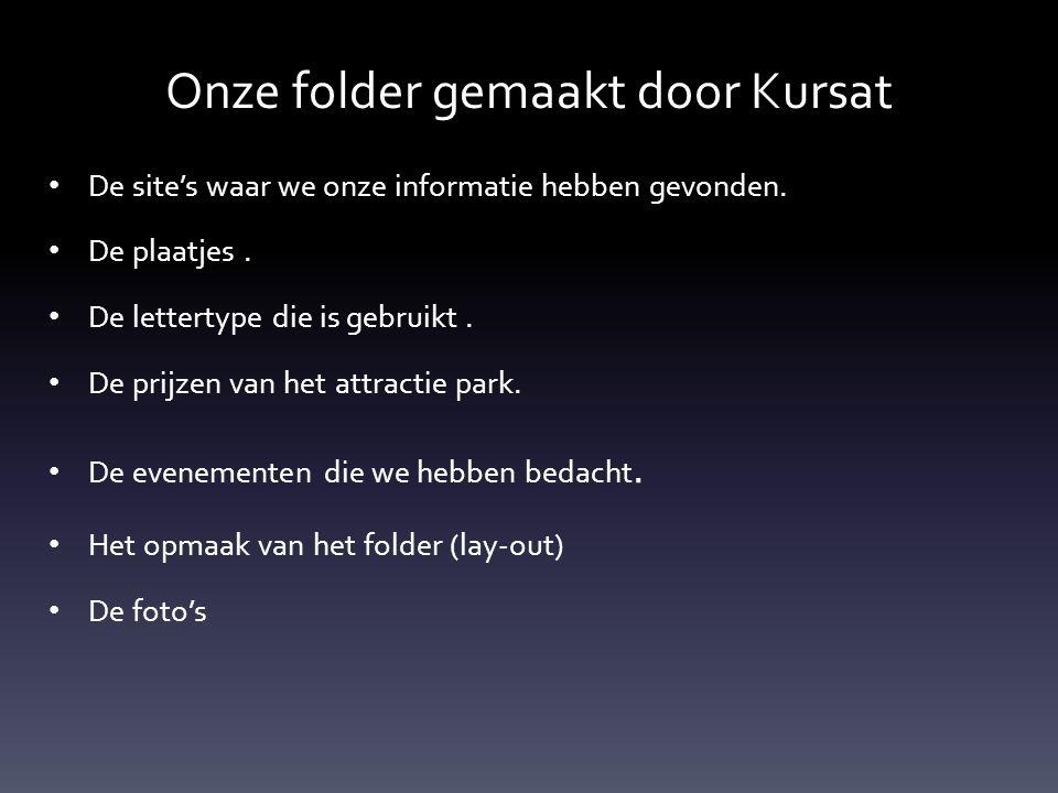 Onze folder gemaakt door Kursat