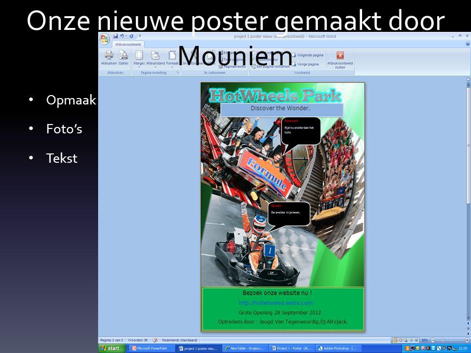 Onze nieuwe poster gemaakt door Mouniem
