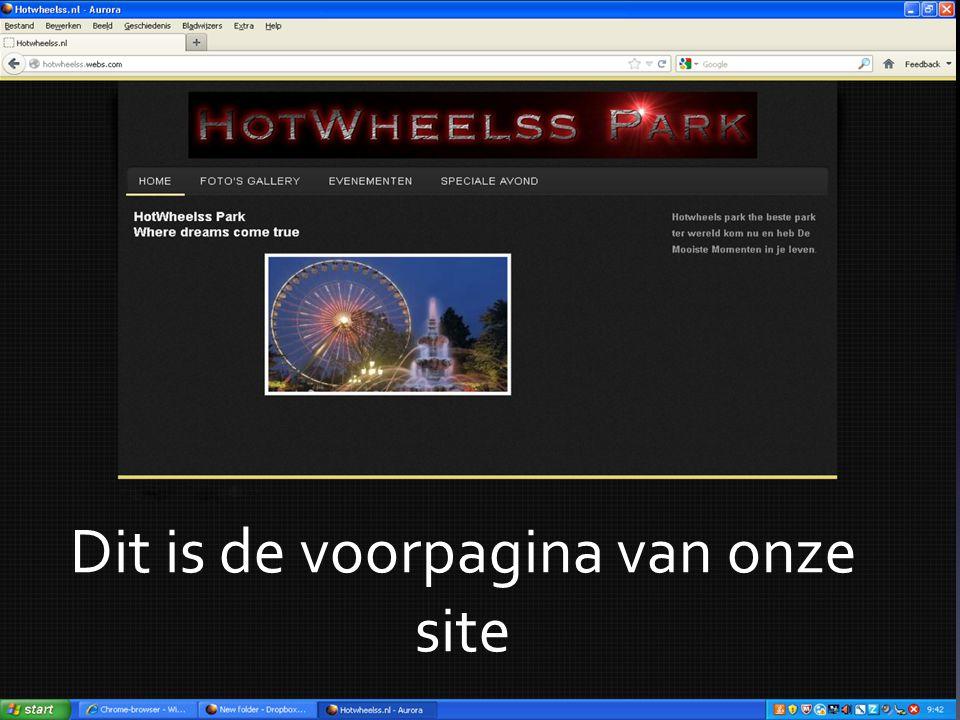 Dit is de voorpagina van onze site