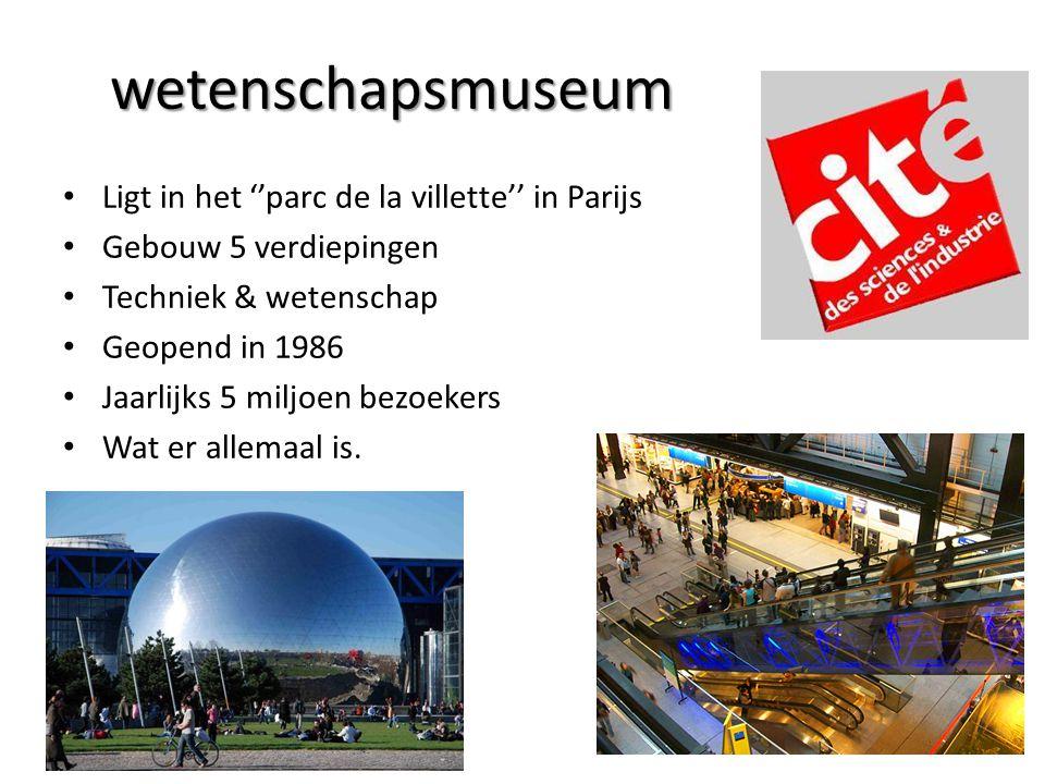 wetenschapsmuseum Ligt in het ''parc de la villette'' in Parijs