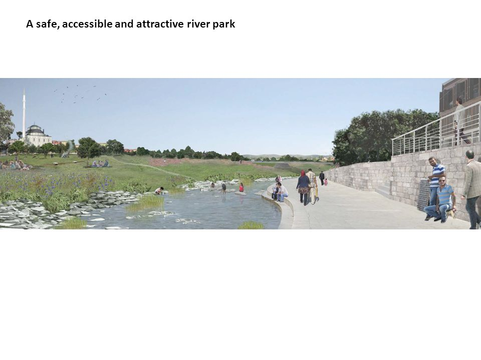 A safe, accessible and attractive river park